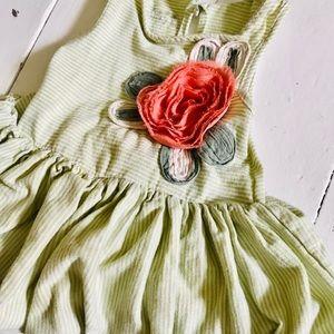 Flower Peplum Dress 6-12 months